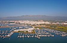 Imagen aérea del puerto de Sant Carles de la Ràpita.