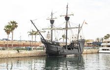 Imagen del barco Nao Victòria, que se podrá visitar en el Puerto hasta el domingo día 20 de junio.