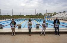 La piscina Sylvia Fontana acogió la presentación del acontecimiento, ayer por la mañana.
