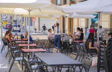 Imagen de la terraza de un establecimiento de la calle Lleida de Tarragona.