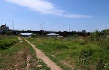 Plano general de uno de los tramos urbanos del río Francolí en Tarragona.