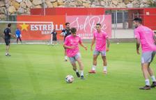 Primer entrenament del primer equip del Nàstic de Tarragona que aquest any entrena Raül Agné