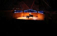 El pianista, Javier Perianes, durant la seva actuació al concert inaugural del 40a edició del Festival Internacional de Música Pau Casals.
