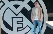 Jaume Jardí a les oficines del Real Madrid.