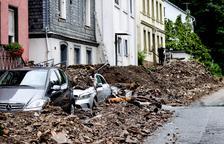 Al menos 19 muertos y 70 desaparecidos por fuertes tormentas en el oeste de Alemania
