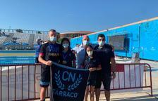 Els nedadors del Club Tàrraco, després de participar a la prova.