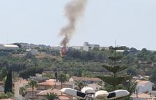 Estabilitzat l'incendi en una zona de conreus al costat de l'Institut de Torredembarra