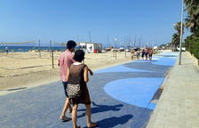 Presentan la nueva zona de peatones en la calle Pescadors de Altafulla