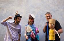 Imatge dels tres tarrAQUAnins que actuaran a la Casa Canals.