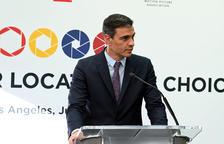 El president del govern espanyol, Pedro Sánchez, en un acte durant la seva gira de tres dies pels Estats Units.