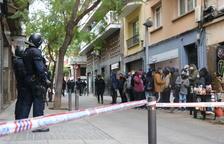 Imagen de archivo de una concentración en Barcelona para intentar parar un desahucio.