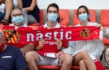 Imagen de archivo de unos espectadores en el Nou Estadi.