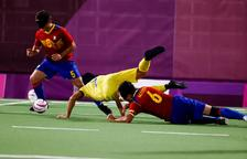 El tarragoní Youssef el Hadaoui s'estrena amb victòria amb Espanya al futbol 5 paralímpic