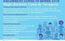 Salut obre noves dates per vacunar-se sense cita prèvia a Tarragona, Reus, Calafell i Valls