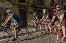 Trobada de bicicletes clàssiques a Reus per la Setmana Europea de la Mobilitat