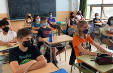 Imatge d'arxiu d'alumnes de secundària a un institut català.