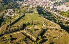 Imagen aérea del conjunto de murallas de Tortosa.