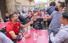 Los jugadores del Nàstic también han compartido momentos con el Genuine.