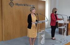 La presidenta de la Diputació de Tarragona, Noemí Llauradó, durante la rueda de prensa.