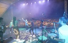 Uno de los momentos del concierto de Miki Núñez.