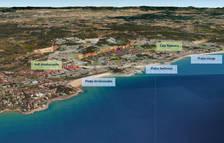 Imagen virtual del plan parcial de la Budellera, en Tarragona, completamente desarrollado, con 6.000 nuevas viviendas, que se extiende desde el campo de fútbol del Nàstic y hasta la Cala Romana, en una imagen publicada el 21 de noviembre del 2016.