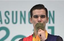 Garcia amb la medalla d'or.