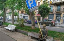 L'avi Virgili de Tarragona s'aixeca amb un senyal