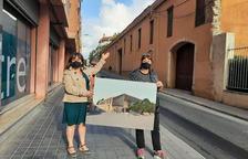 La regidora de Participació de Reus, Montserrat Flores, davant el futur centre cívic Gregal.