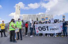 Empieza la huelga indefinida de la plantilla del 061 con concentraciones