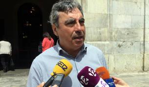 Primer pla del portaveu de CDC a l'Ajuntament de Tarragona, Albert Abelló.