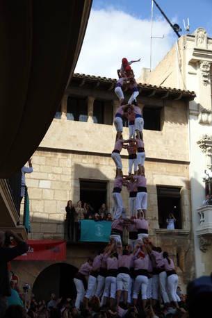 3de9f dels Xiquets de Tarragona a la diada de Tots Sants de Vilafranca.