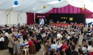 L'envelat de la Festa Major d'Hivern va acollir 350 persones