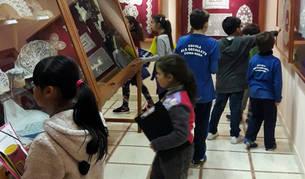 Imatge dels alumnes que han visitat el Museu.