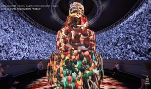Imatge virtual d'una de les sales del Museu, que vol fer viure el visitant la màgia dels castells.