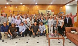 Imatge de la trobada d'extreballadors de l'empresa S.A Gili, que va tancar fa 17 anys.