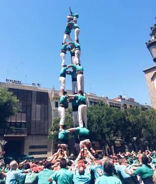 3de8 dels Castellers de Sant Pere i Sant Pau a Sabadell.