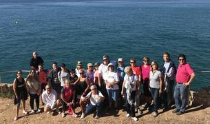 Fotografia de grup dels participants a la caminada.