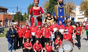 Foto de grup dels Amics dels Gegants de Montblanc a les Fonts.