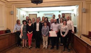 Fotografia de l'acte d'entrega del Premi de Recerca Jordi Fontanet.