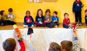 Imatge dels nens que van participar al Casal de Nadal.