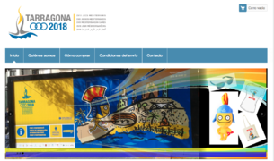 Imatge del portal web que comercialitza el marxandatge dels Jocs Mediterranis 2018.