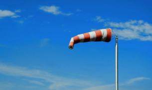 Imatge d'una mànega de vent.