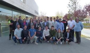 El grup de joves de Lycée Agricole Toulouse-Auzeville amb Pere Granados.
