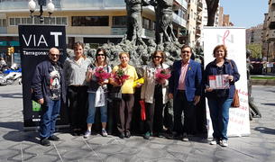 Imatge de l'acte d'entrega de premis del concurs 'Per Sant Jordi, remenem paraules'.