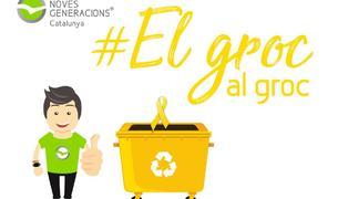 Els joves del PP impulsen una campanya per llençar els llaços grocs al contenidor de reciclatge