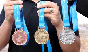 Imatge de les medalles dels Jocs Mediterranis 2018.