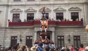 Els Xiquets de Reus estrenen el 2de8f per Sant Pere a la plaça del Mercadal