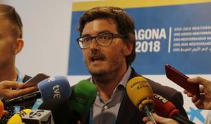 Javier Villamayor, durant la compareixença de premsa al Palau.