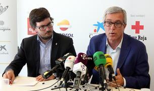 Pla mig de l'alcalde de Tarragona, Josep Fèlix Ballesteros, i del coordinador dels Jocs Mediterranis, Javier Villamayor.