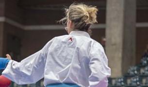 Una imatge d'arxiu d'un combat de karate.
